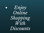 Now You Can Enjoy Online Shopping With Discounts