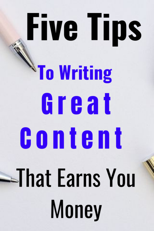 How To Write Good Website Content And Get Paid