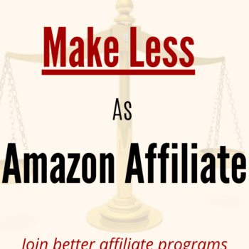 Amazon Affiliate Program Commission Reduced
