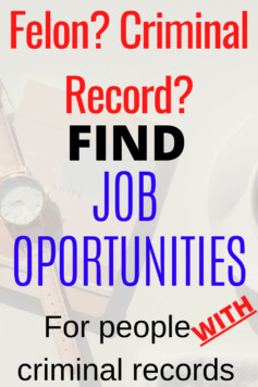 Jobs For People With A Criminal Record