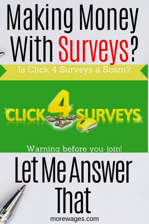 Is Click4Surveys A Scam, let me explain how the survey site works then you can decide if it`s the right way to make extra money online.