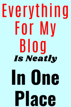 when Starting A Blog For Beginners, you should try and have everything in one place if possible