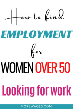 how to find employment for women over 50 looking for work