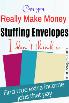 stuffing envelopes from home got money is not a job you`ll get rich with and I`m not even sure you`ll be paid.Envelope stuffing jobs are a thing of the past.