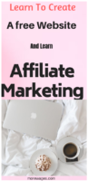my recommendation to creating a free affiliate marketing website