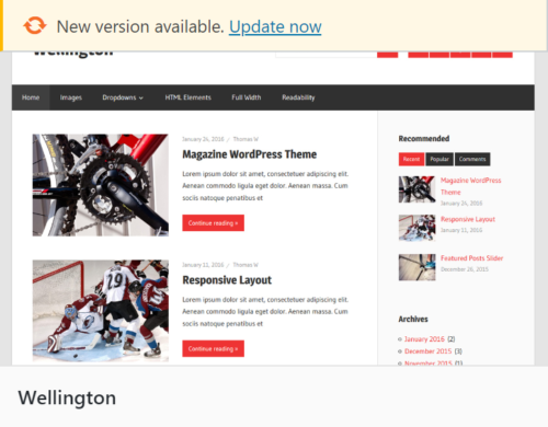 WordPress updated theme