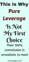 Is Pure Leverage a Scam?[Beware Of Their 100% Commission!]This post has explained why you`ll not earn the 100% commission if you`re just getting started and what you can do instead to earn money online