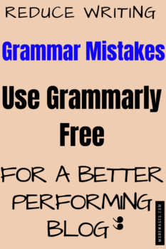 Reduce grammer mistakes using Grammaly