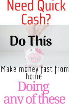 How To Make Money Fast From Home