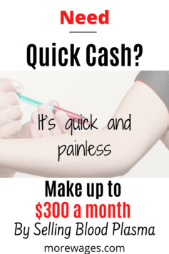 sell blood plasma for extra cash