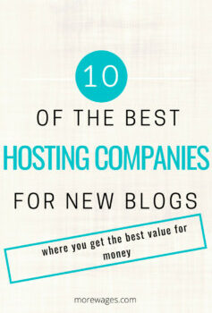 Best hosting companies for new blogs