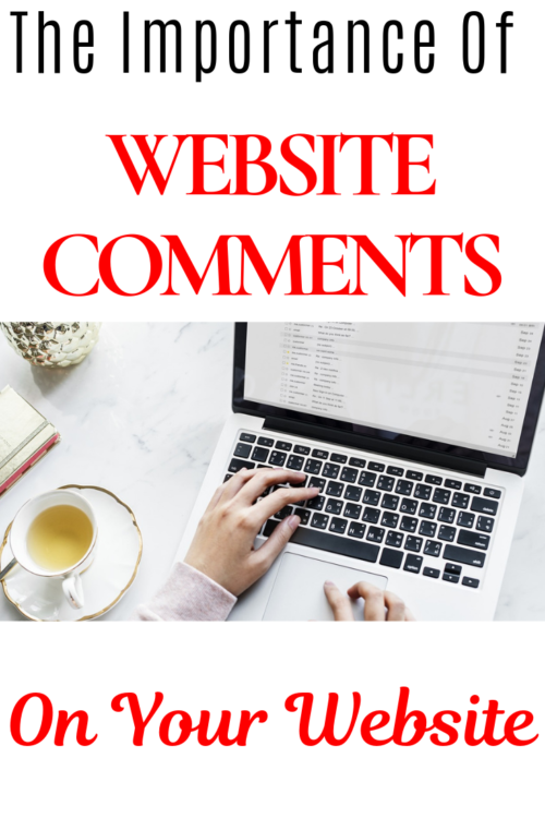 leaving website comment