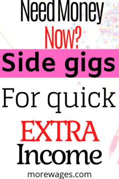 Side gigs and how to make quick money at home