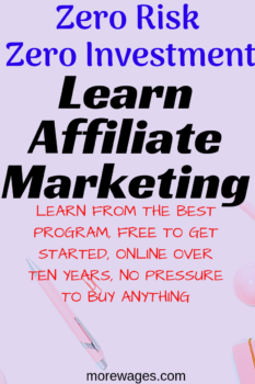 Affiliate marketing and success require work and learning how to do everything the right way.You should choose the best place to learn.I chose this program to learn as they do not have the many sales other programs have.You only pay a membership fee and everything is included, 2 websites,affiliate marketing training,creating links, finding affiliate products to promote and everything else you need to make money with affiliate marketing