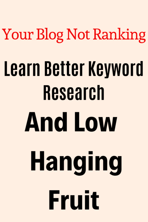 Your Blog Not Ranking,learn how to do proper keyword research