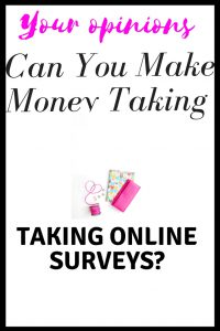 Can you make money taking online surveys?