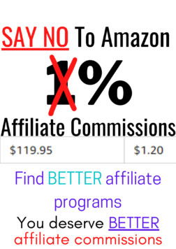 Amazon affiliate program alternatives that pay better affiliate commissions and have better affiliate cookie period for your affiliate links.